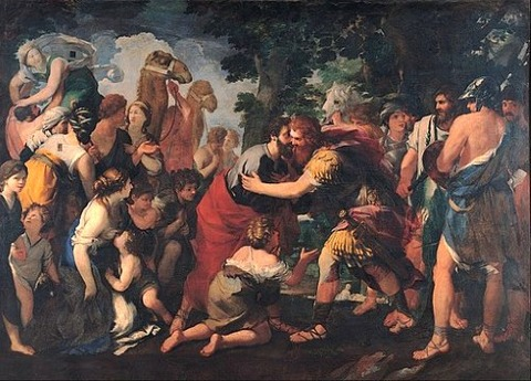 Raffaellino Bottalla - Meeting between Esau and Jacob