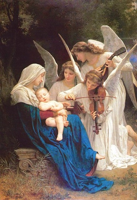 William-Adolphe Bouguereau (1825-1905) Song of the Angels