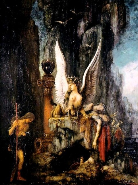 Oedipus The Wayfarer by Gustave Moreau