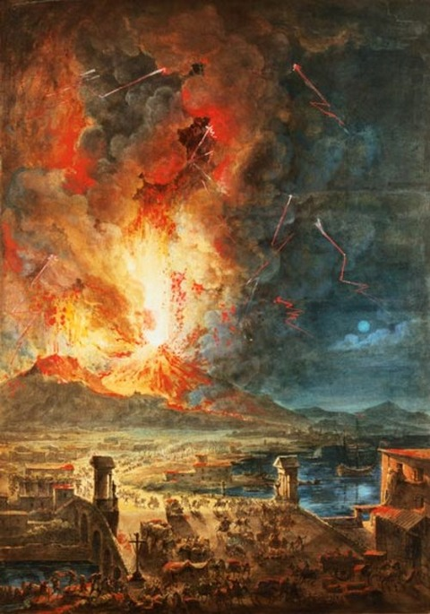 The Great Eruption of Mt. Vesuvius - Louis Jean Desprez