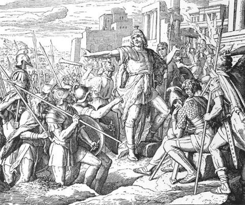 Judah  Die Bibel Bildern Julius Schnorr von Carolsfeld 1860