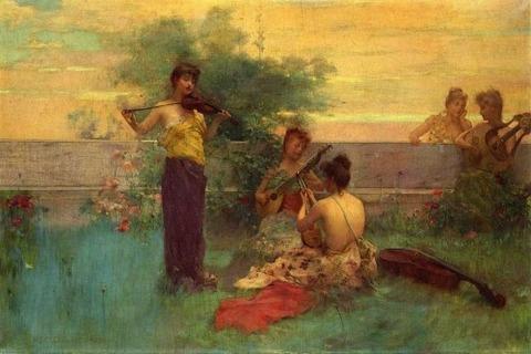 Henry Siddons Mowbray - Arcadia 1890