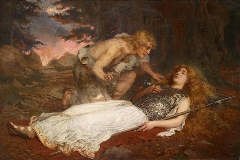 Siegfried And Brunnhilde by Charles Ernest Butler
