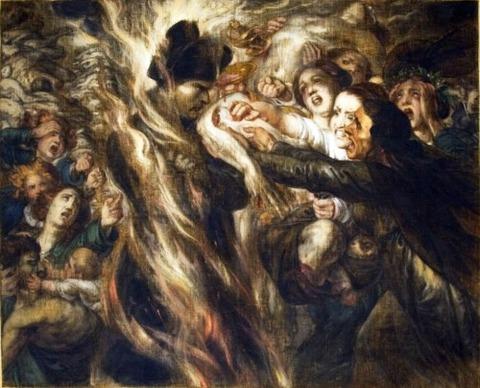Scene from the Hell  Antoine Wiertz 1864