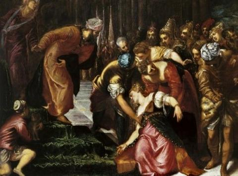 Esther before Ahasuerus Tintoretto 1546-7