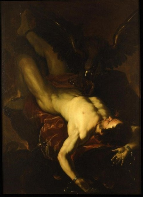 Prometheus Bound, by Luca Giordano (~1660)