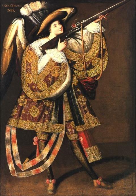 Angel with Arquebus,アシエル17th century1