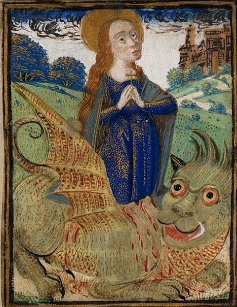 Margaret and Dragon, late 15th