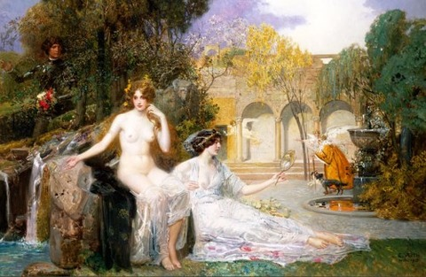 Fountain Of Youth Artwork by Eduard Veith
