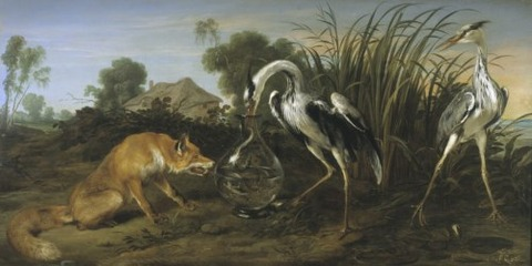 The fable of the fox and the crane Frans Snyders