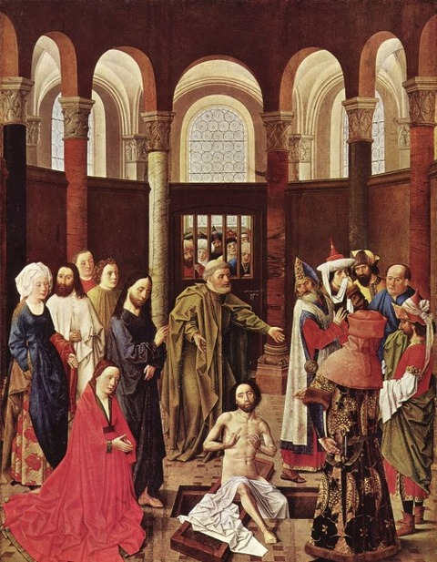 Ouwater, Aelbert van - The Raising of Lazarus -  1445