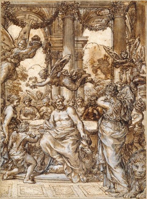Cybele before the Council of the Gods Pietro da Cortona 1633