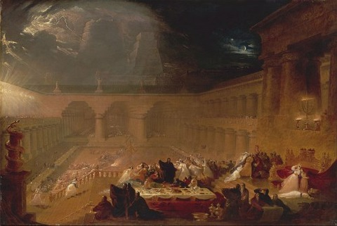 John Martin, Belshazzar's Feast, c. 1821