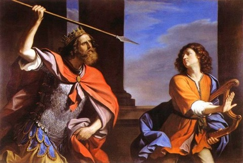Saul Attacking David  Guercino (1646)