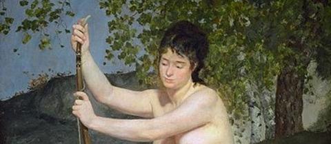 Pierre-Auguste_Renoir Diana als Jägerin 1867 -