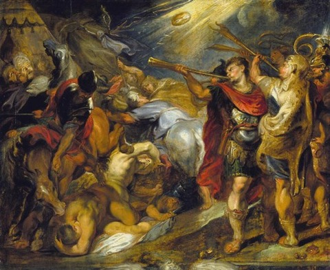 Overcoming the Midianites Workshop of Peter Paul Rubens 1625-30