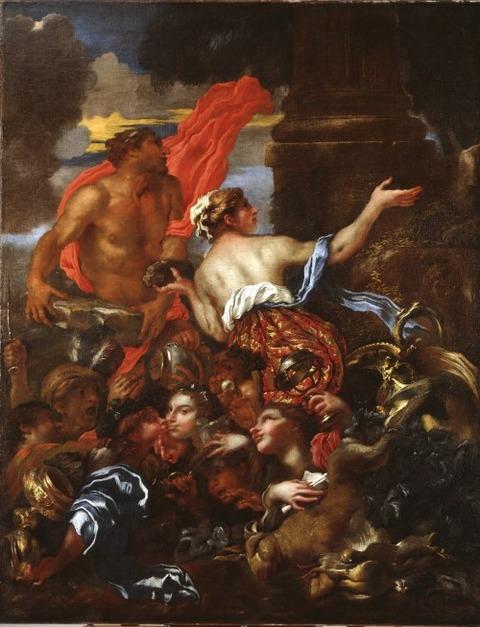 Giovanni Benedetto Castiglione Deucalion and Pyrrha 1655