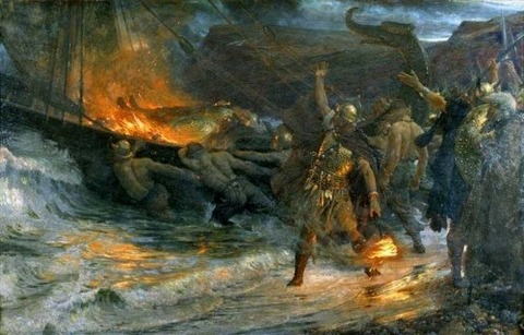 the-funeral-of-a-viking-1893_Frank Dicksee