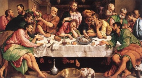 The Last Supper 1542  Jacopo Bassano