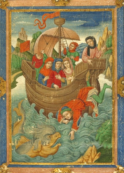 Paris 1900 15th manuscript Jonah and the Whale