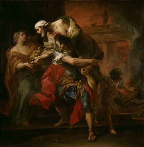 Carle VANLOO Aeneas Carrying Anchises 1729