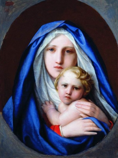 Fyodor Bruni 1858 The Virgin and Child
