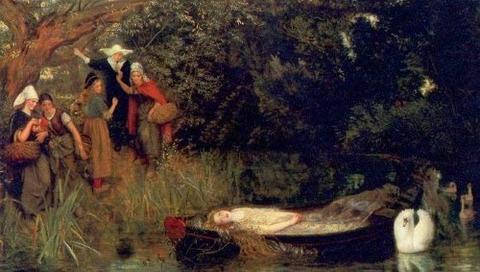 Arthur Hughes. The Lady of Shalott. 1873