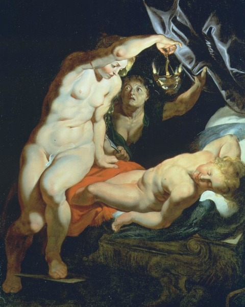 Cupid And Psyche by Rubens