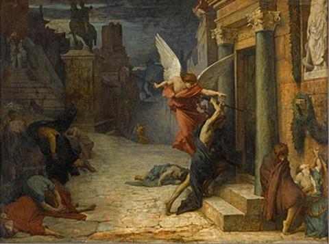 《ローマのペスト》エリー・ドローネー (1828-91) 1869年