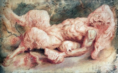 Peter Paul Rubens - Pan reclining (1610)