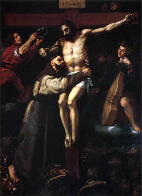 ribalta_francisco  磔刑のキリストを抱く聖フランチェスコ