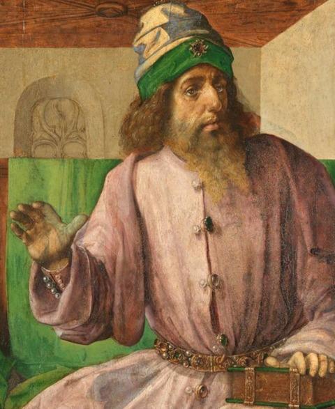 Joos Van Gent, Portrait of Aristotle 1475