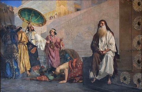 1884  Haman And Mordecai  paul alexandre alfred leroy