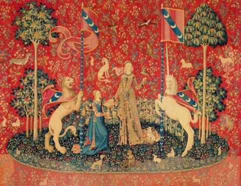 15th Tapestry recreation Taste From Lady with Unicorn Series