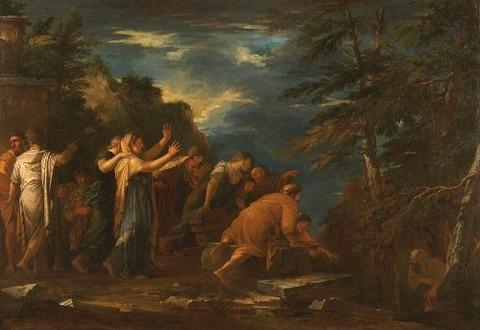 Pythagoras Emerging From The Underworld  by Salvator Rosa