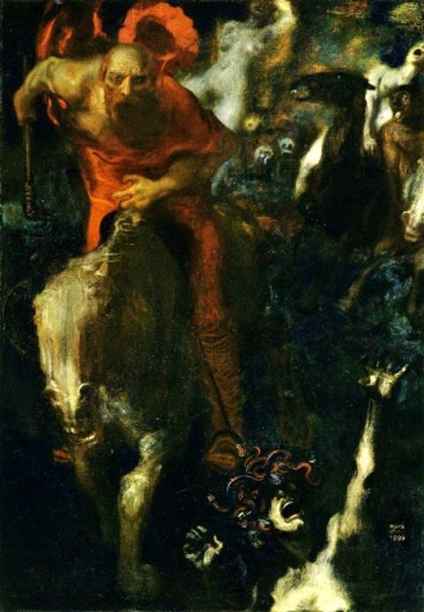 Wild Hunt by Franz von Stuck, 1899