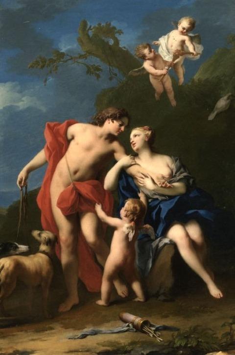 Jacopo Amigoni, Venus and Adonis  1740