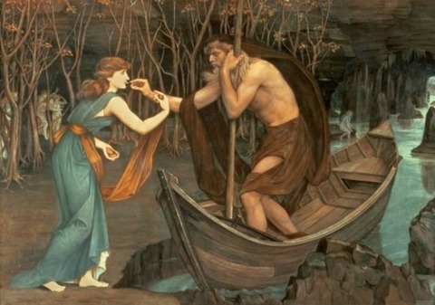 John Roddam Spencer Stanhope Charon and Psyche