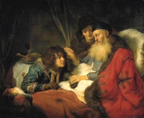 Rebecca   Isaac Blessing Jacob  Govert Flinck