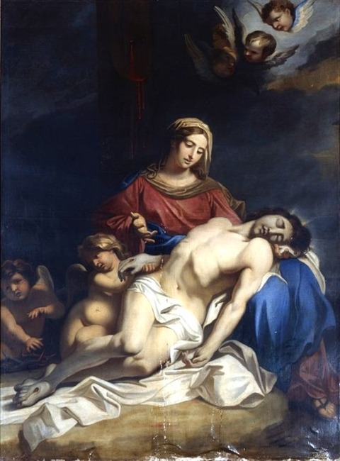 After Annibale Carracci, Pietà, 17th