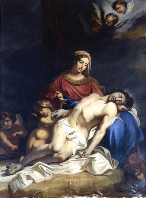 After Annibale Carracci, Pietà, 17th