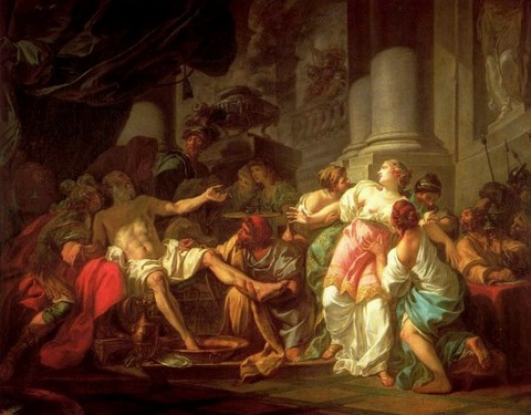 DAVID, Jacques-Louis The Death of Seneca 1773