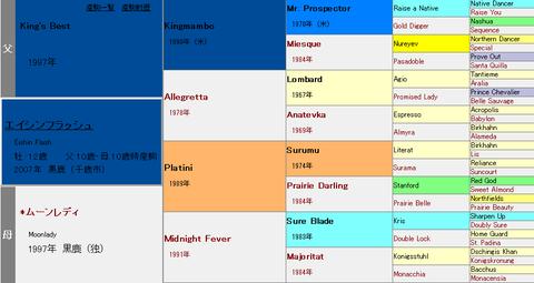 エイシンフラッシュ血統表