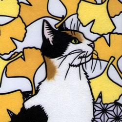 銀杏と猫だよ