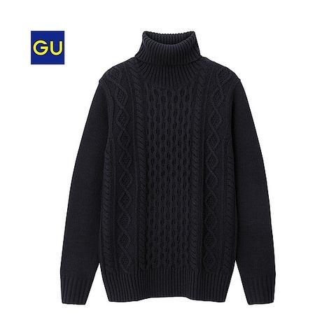 GU ネックセーター
