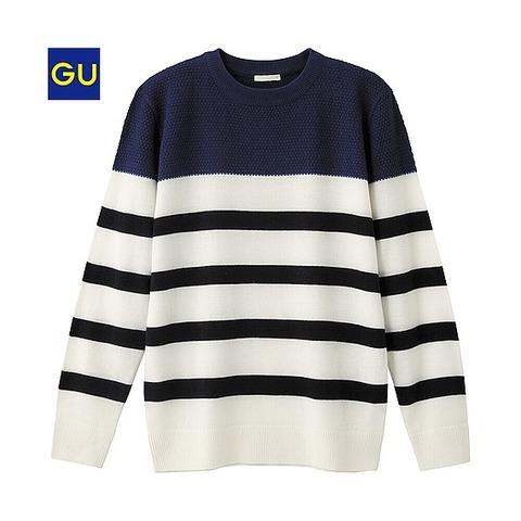 GU カラーブロックセーター