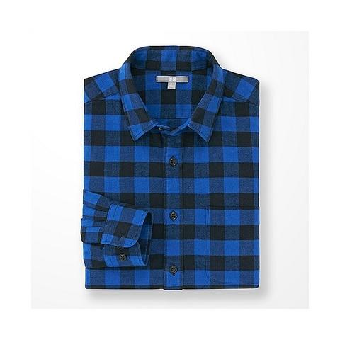 ユニクロ ブルーシャツ