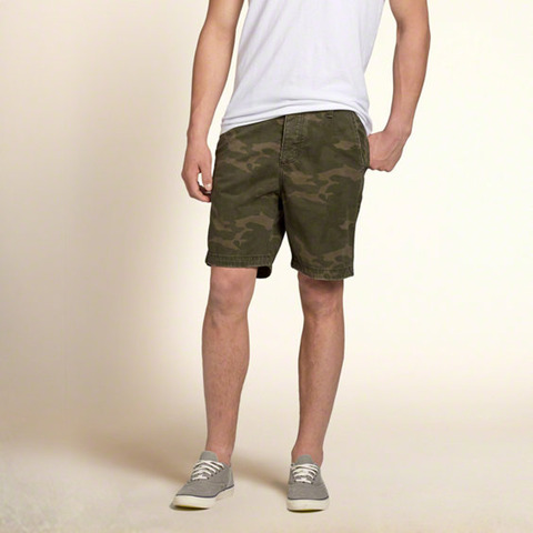 Hollister Beach Prep Fit Shorts Camo 4490