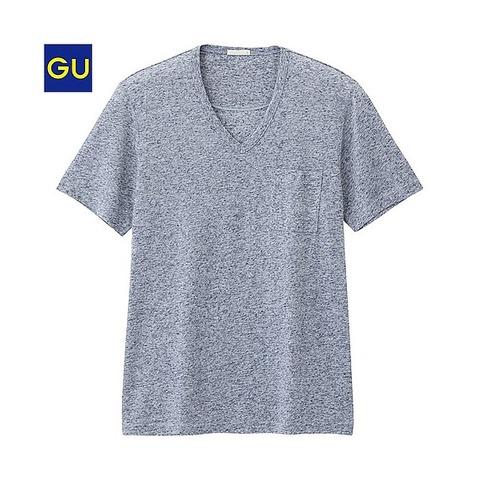 GU VネックT(半袖)
