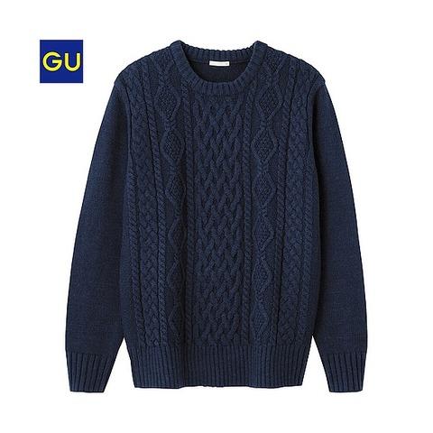 GU クルーネックセーター